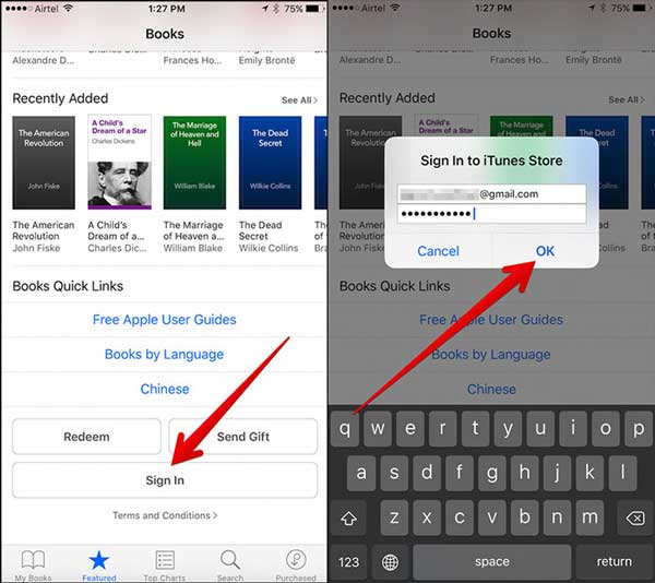 iphone how to delete audiobook
