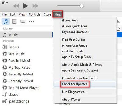 update itunes to the latest version