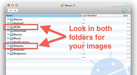 how to transfer photos from android to mac via preview