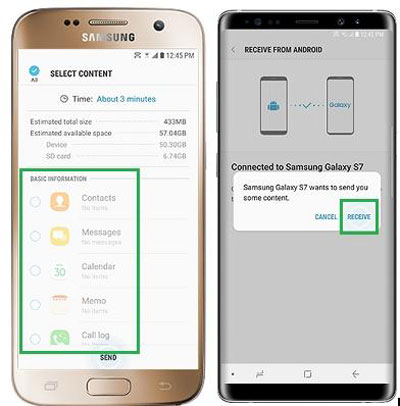 switch apps from samsung to samsung