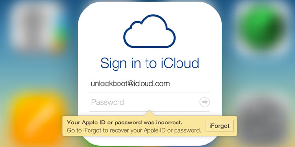 reset icloud password