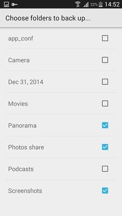backup photos to google+