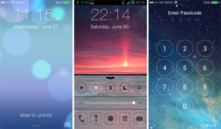 set iphone lock screen on android