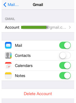 transfer iphone notes to samsung via gmail