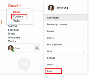 export android contacts to vcard file