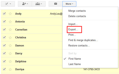 sync android contacts to gmail