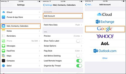 how to delete contacts on iphone from gmail outlook and yahoo accounts