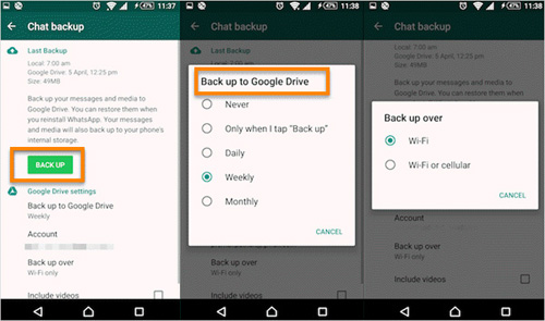 download whatsapp backup from google drive to icloud