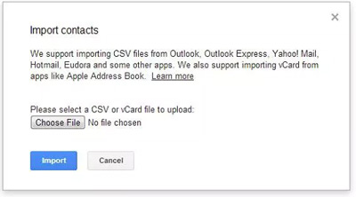 csv contacts import to android