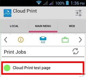 print android sms via google