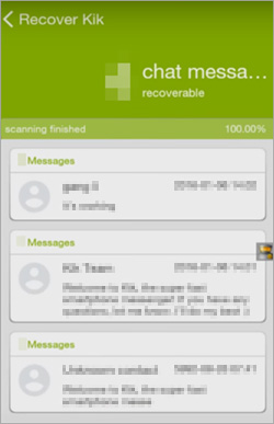recover kik messages on android