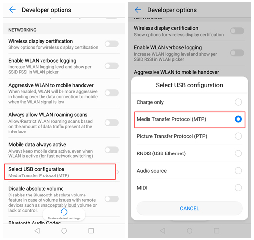 enable usb debugging on huawei mate