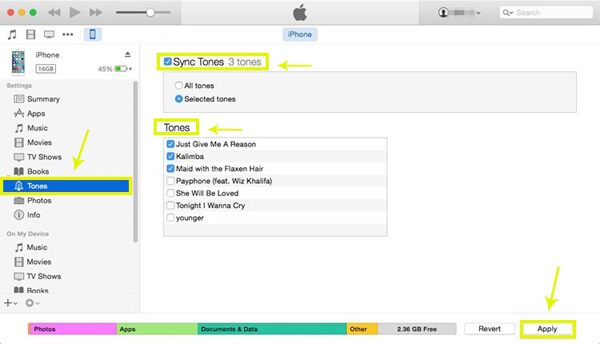 transfer ringtones from iphone to iphone via itunes