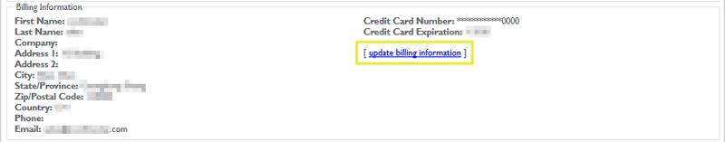 update billing information