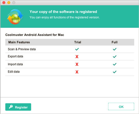 register the software