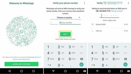 create whatsapp account with sim