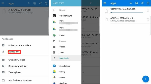 how to sync files from huawei to samsung over dropbox