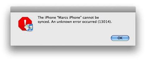 fix itunes error 13014