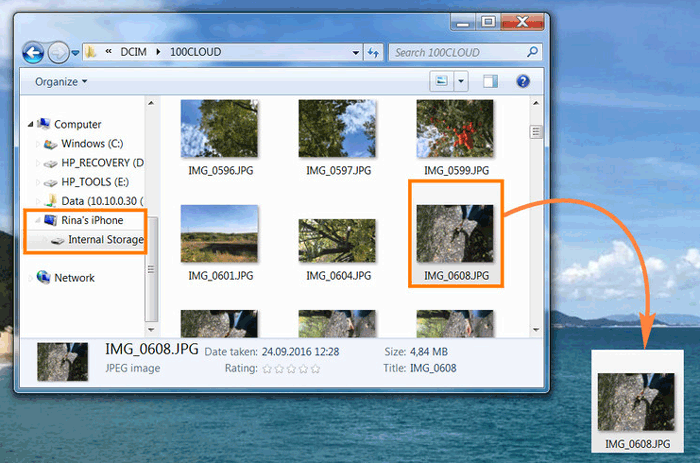 how to transfer pictures from ipad to computer with windows explorer