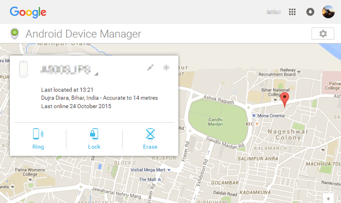 remotely wipe android with android device manager
