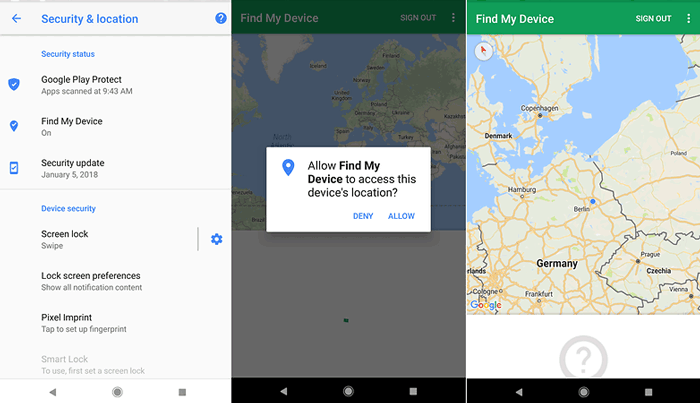 remote wipe android with find my device