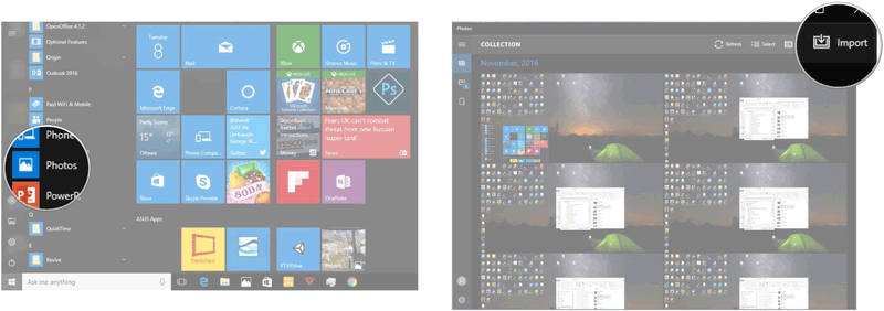 backup iphone photos with windows photos app
