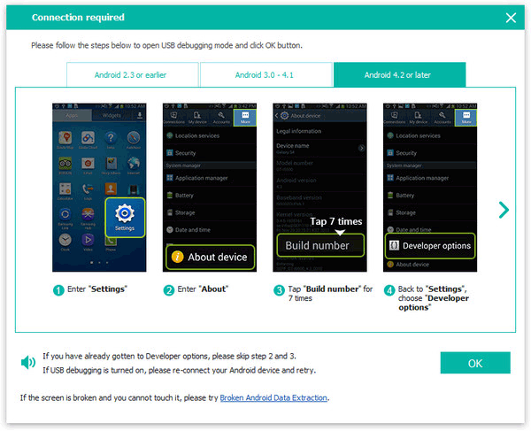 main interface of whatsapp data recovery