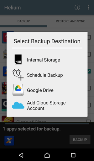android backup restore with helium