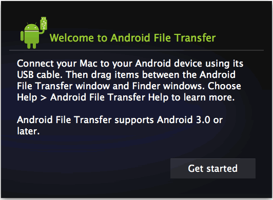 transfer music from mac to android with android file transfer