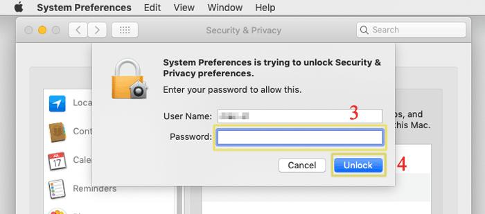enter password to unlock your mac