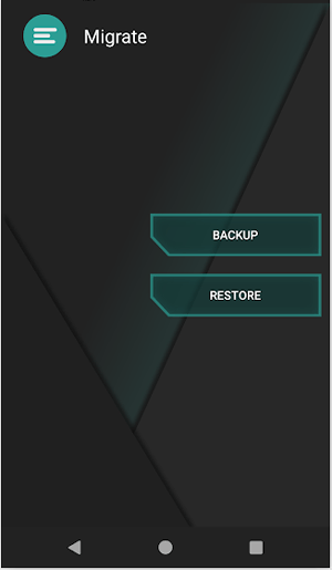 android backup app - migrate