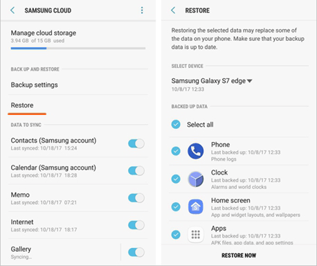 how to retrieve deleted call log on samsung with samsung cloud