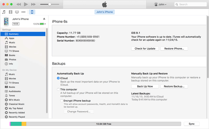 transfer messages from iphone to mac with itunes