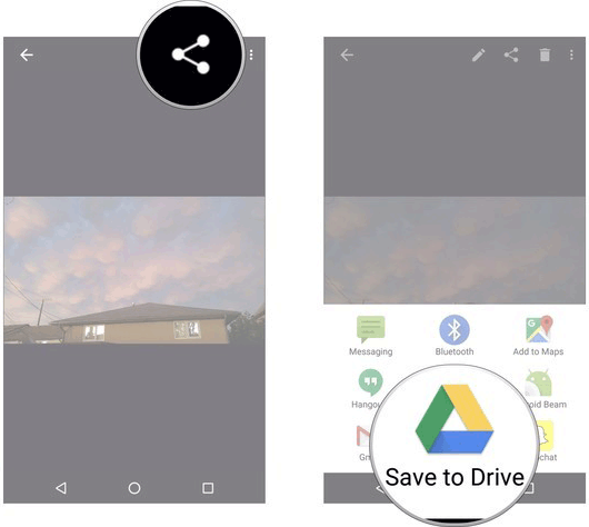 use google drive to transfer photos from pc to iphone without itunes