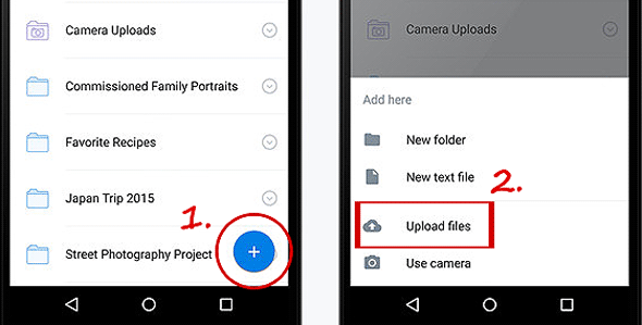 transfer android to iphone with dropbox
