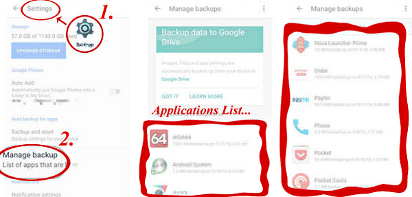 how to back up and restore android with google backup
