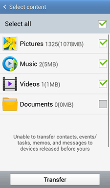 how to transfer data from samsung to samsung with nfc