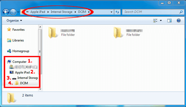 how to transfer files from ipad to pc with windows explorer