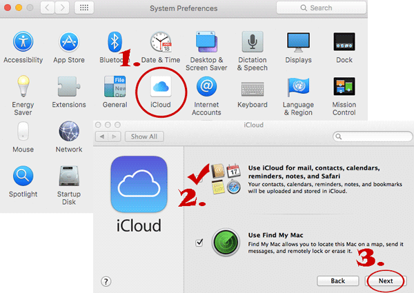 how to sync notes from iphone to mac via icloud