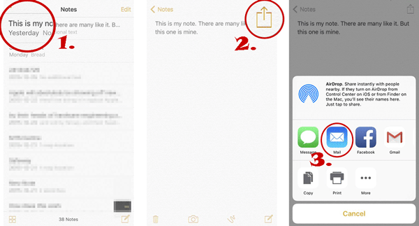 how to sync notes from iphone to mac with mail