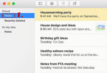 check iPhone notes on mac