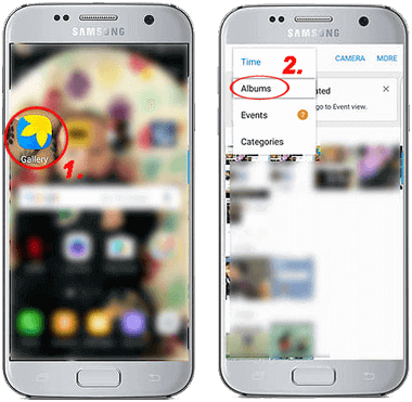how to delete gallery on samsung galaxy