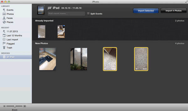how to transfer videos from ipad to mac with iphotos