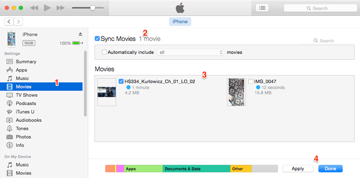 how to transfer videos from mac to iphone with itunes