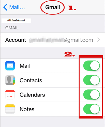 transfer from iphone to samsung with gmail