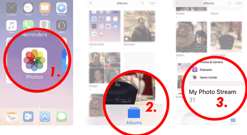 how to transfer photos from ipad to ipad mini via photo strea