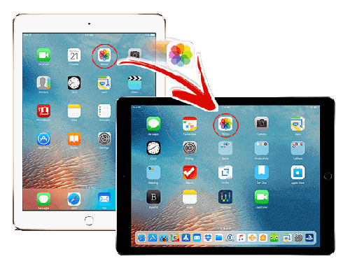 how to transfer photos from ipad to ipad