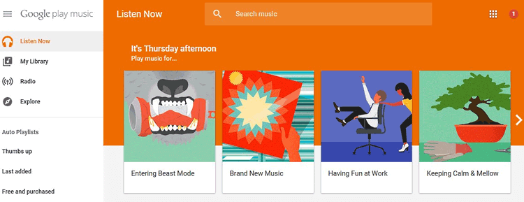 transfer music from mac to android with google play music