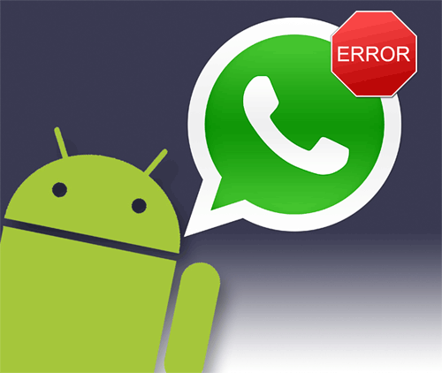 transfer whatsapp on android error