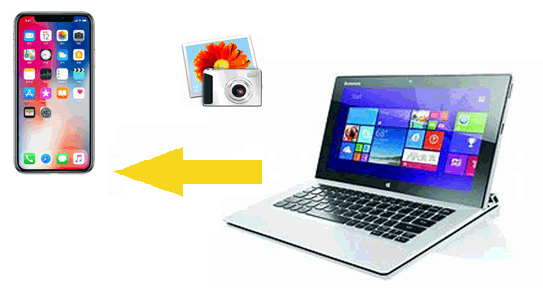 how to transfer photos from laptop to iphone